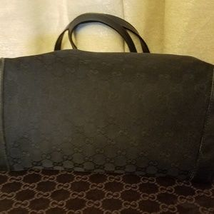 Gucci Bags - Gucci Black Canvas Craft Tote